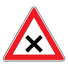 Papier Peint - Verkehrsschild - 102 Kreuzung / Einmündung