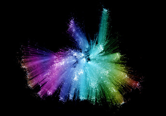 Abstract Internet technology fiber optic background .