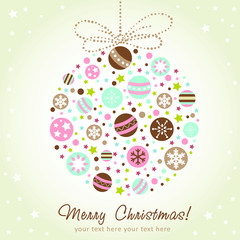 Stylized design Christmas decoration