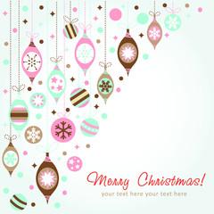 Beautiful design Christmas greeting card
