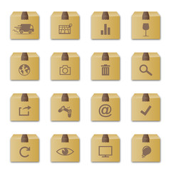 """carton"" icon set 1"