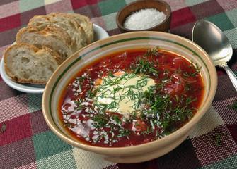 Ukrainian national red soup