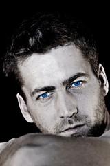 Model Foto mit blauen Augen