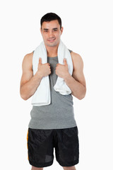 Young man after workout