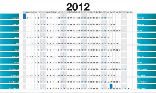 2012 blue planner FR