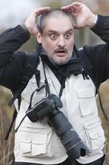 Fotógrafo impactado ante una situación asombrosa.
