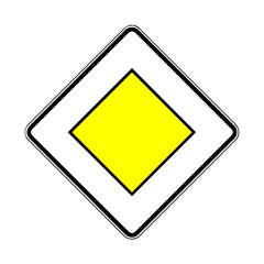Papier Peint - Verkehrsschild - 306 Vorfahrtstraße
