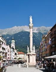Innsbruck Maria Therisen Strasse mit Annasäule