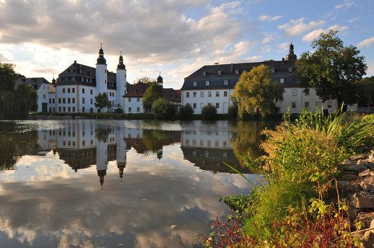 Schloss Blankenhain im Sonnenuntergang