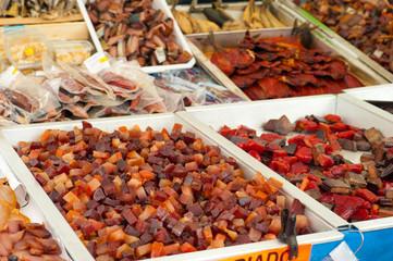 Fish on street market
