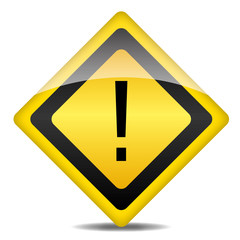 Achtung Warnung Schild Ausrufezeichen