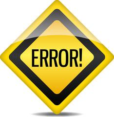 Achtung Warnung Schild Error!