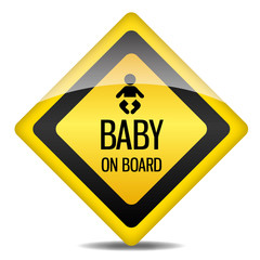 Achtung Warnung Schild Baby on Board icon