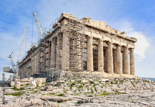 the construction of the acropolis of athens