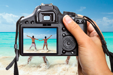 Caribbean Sea vacations with DSLR camera