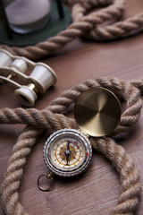 Golden Compass and rope