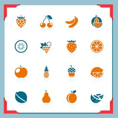 Fruits icons | In a frame series
