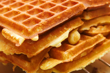 Baking Brussels Waffels - Serie -  3 of 5