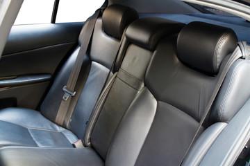 Leather back car seats