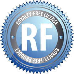 Royalty-free license badge