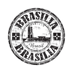 Brasilia grunge rubber stamp