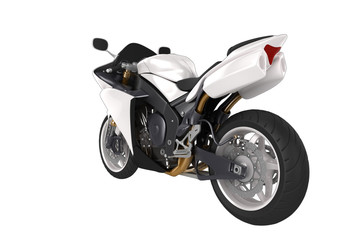 White Concept motorbike