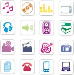 boutons multimédia