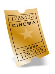 """Ticket Cinéma """"or"""""""