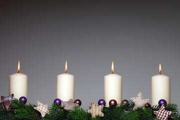 Kerzen Weihnachten vierter Advent