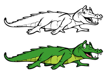 Alligator coloring book