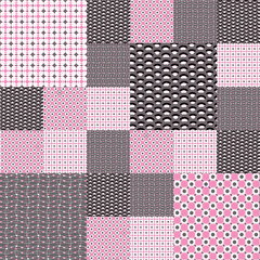 Set of seamless backgrounds in pink tones