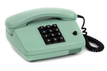 hell grünes Telefon