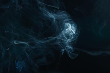 smoke on the black background