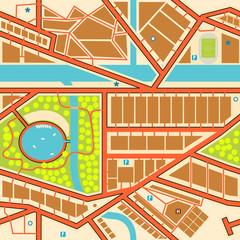 Foto op Plexiglas Op straat Seamless city map