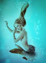 mermaid beautiful magic underwater mythology being original phot