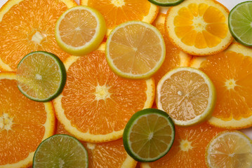 Limes, Lemons and Orange slices