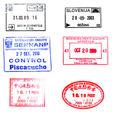 Passport stamps for souvenir