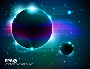 Planet eclipse abstract