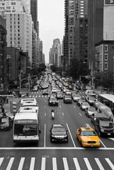Foto auf AluDibond New York TAXI New York Traffic