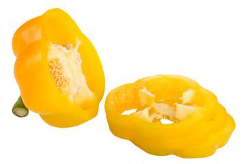 Sliced yellow pepper