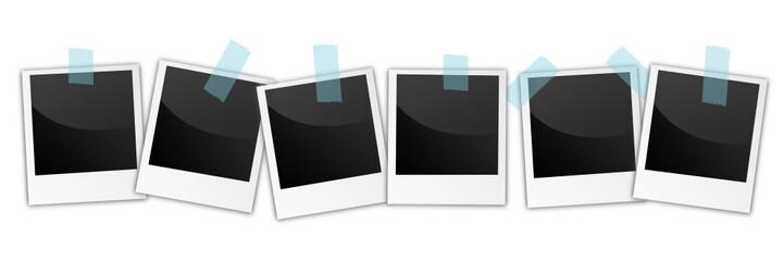 Polaroids Reihe Klebestreifen