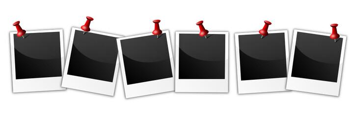Polaroid mit Pins
