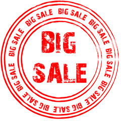 Red vector stamp for big sale