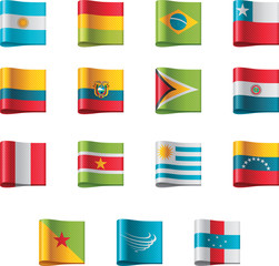 Vector flags. South America, part 5