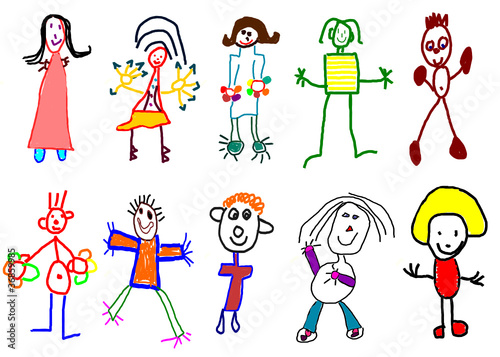 """Dessin Libre dessins d'enfants"""" fichier vectoriel libre de droits sur la banque d"""