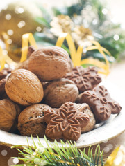 walnuts and cookies