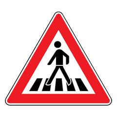 Papier Peint - Verkehrsschild - 134 Fußgängerüberweg