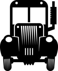 Retro tractor, vector illustration