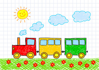 Drawing of train