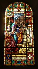 Photo sur Plexiglas Vitrail vitrail d'église